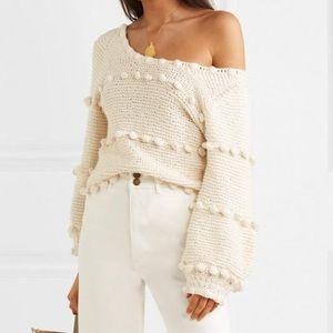 Apiece Apart Hyacinth Pompom Stripe Sweater M